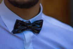 Man wearing a Bow Tie stock image