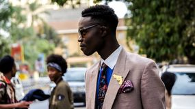 Man Wearing Brown Formal Coat Royalty Free Stock Images
