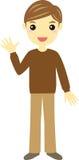 Man wearing brown sweater Stock Photos