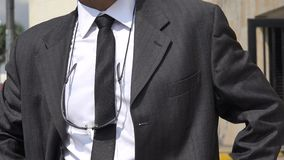 Man Wearing Business Suit stock footage