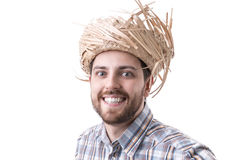 Man wearing caipira clothes. Can be used as Festa Junina or Country Festivals in Brazil Stock Photos