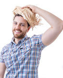 Man wearing caipira clothes. Can be used as Festa Junina or Country Festivals in Brazil Stock Images