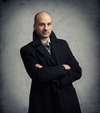 Man wearing a coat Royalty Free Stock Images
