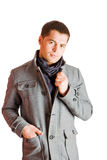 Man wearing coat Stock Photography