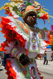 Man Wearing Colorful Costume Walks In Parade Celebrating Caribbean Culture Stock Photography