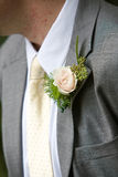 Man wearing a corsage Royalty Free Stock Photography