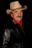 Man wearing cowboy hat Royalty Free Stock Image