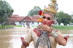 Man wearing of Dramatic Arts Thailand. Royalty Free Stock Images