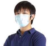 Man wearing face mask Royalty Free Stock Images