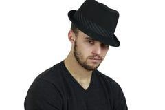 Man Wearing Fedora Stock Photos
