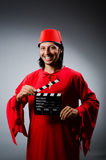 Man wearing fez hat Royalty Free Stock Photo