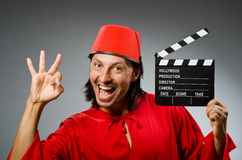 Man wearing fez hat Royalty Free Stock Photos
