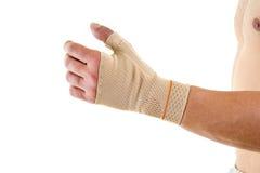 Man Wearing Flexible Wrist Brace in Studio Royalty Free Stock Photo