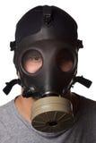Man Wearing Gas Mask Stock Photography