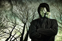 Man wearing gas mask Royalty Free Stock Image