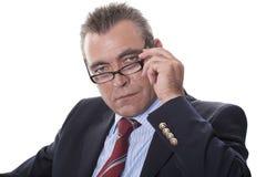 Man Wearing Glasses Stock Photos