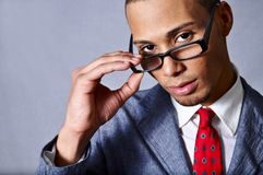 Man wearing glasses Royalty Free Stock Photos