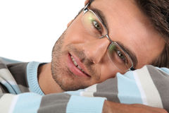 Man wearing glasses Stock Photos