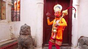 Man wearing Hanuman costume Stock Photography