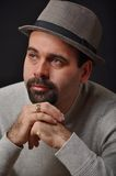 Man wearing hat. This is a portrait of a man wearing hat Stock Images