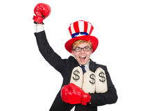 Man wearing hat with american symbols Stock Images