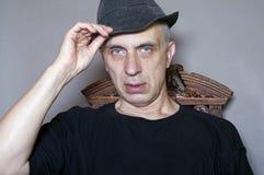 Man Wearing Hat Stock Photo