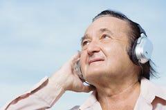 Man wearing headphones Stock Photography