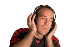 Man Wearing Headphones Stock Image