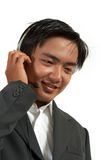 Man wearing a headset Royalty Free Stock Photography