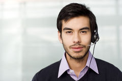 A man wearing a headset Royalty Free Stock Images