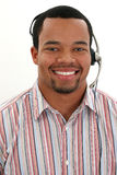 Man Wearing Headset Stock Photography