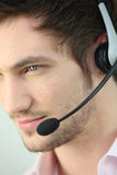 Man wearing a headset Stock Photography
