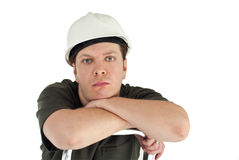 Man wearing helmet. Royalty Free Stock Photos