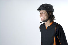 Man Wearing a Helmet Smiling - Horizontal Royalty Free Stock Photos