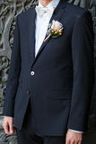 Man wearing jacket with a buttonhole Stock Image