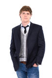 Man wearing jeans and jacket Stock Photography