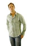 Man wearing jeans and shirt Stock Photos