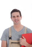 Man Wearing Jumpers Holding Clipboard Royalty Free Stock Images