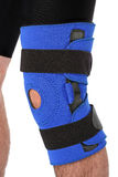 Man wearing a leg brace Royalty Free Stock Photos