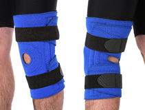 Man wearing a leg brace Stock Photography