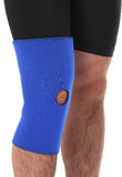 Man wearing a leg brace Stock Photos