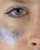 Man wearing make-up royalty free stock images