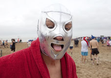 Man wearing a mask, Belgium Stock Images