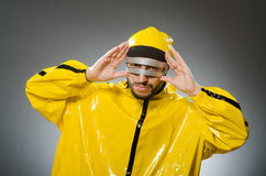 Man wearing metal glasses in techno concept Stock Photos