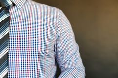 Man Wearing Multicolored Shirt Royalty Free Stock Image