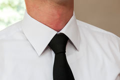 Man wearing a necktie Royalty Free Stock Photography