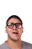 Man Wearing Nerd Glasses Stock Images