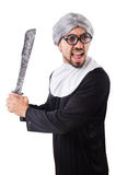 The man wearing nun costume isolated on white Stock Photography