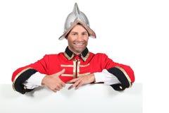 Man wearing old war uniform Royalty Free Stock Images