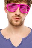 Man wearing party glasses Royalty Free Stock Photography